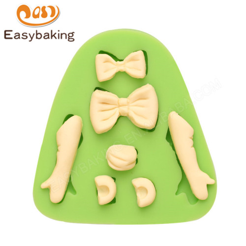 Bows Hands Silicone Fondant Mould for Cake Decorating