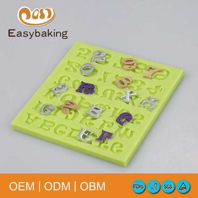 Food-contact Safe Numbers and Alphabets Silicone Molds