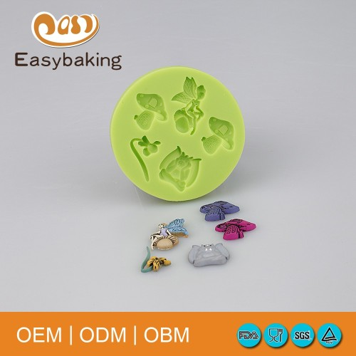 Angel Mushroom Flower Shapes Small Silicone Candy Making Molds