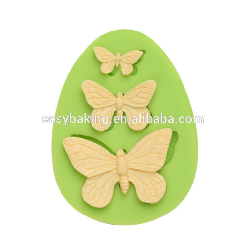 High quality food grade butterfly shaped silicone cake mold