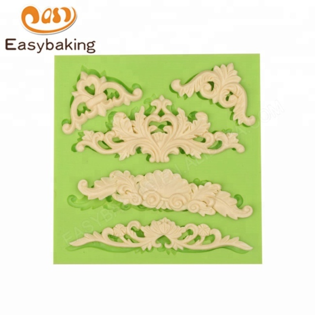 European Relief Lace Cake Border Silicone Mould