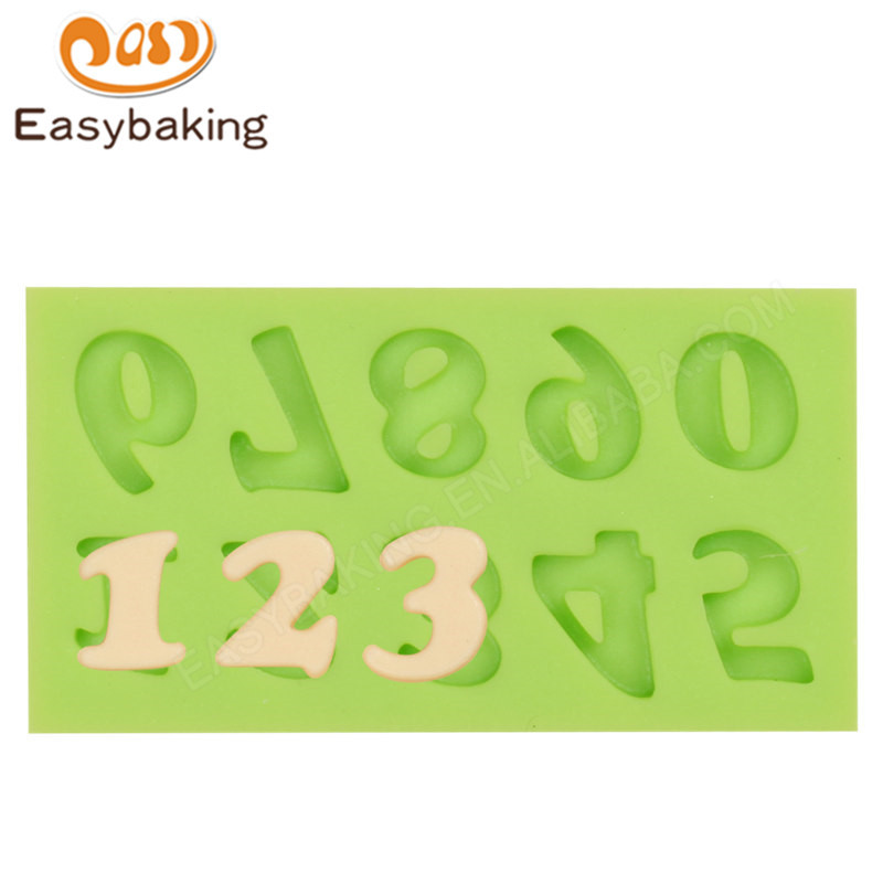 Arabic Numerals Fondant Mould Silicone Molds for Cake Decorating