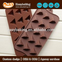 15 Cavity Triangle Pyramid Silicone Mold Pan for Ice Cube Chocolate Candy