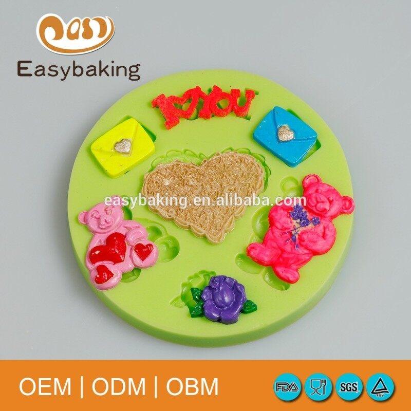 Animal theme bear silicone molds cake decoration tools