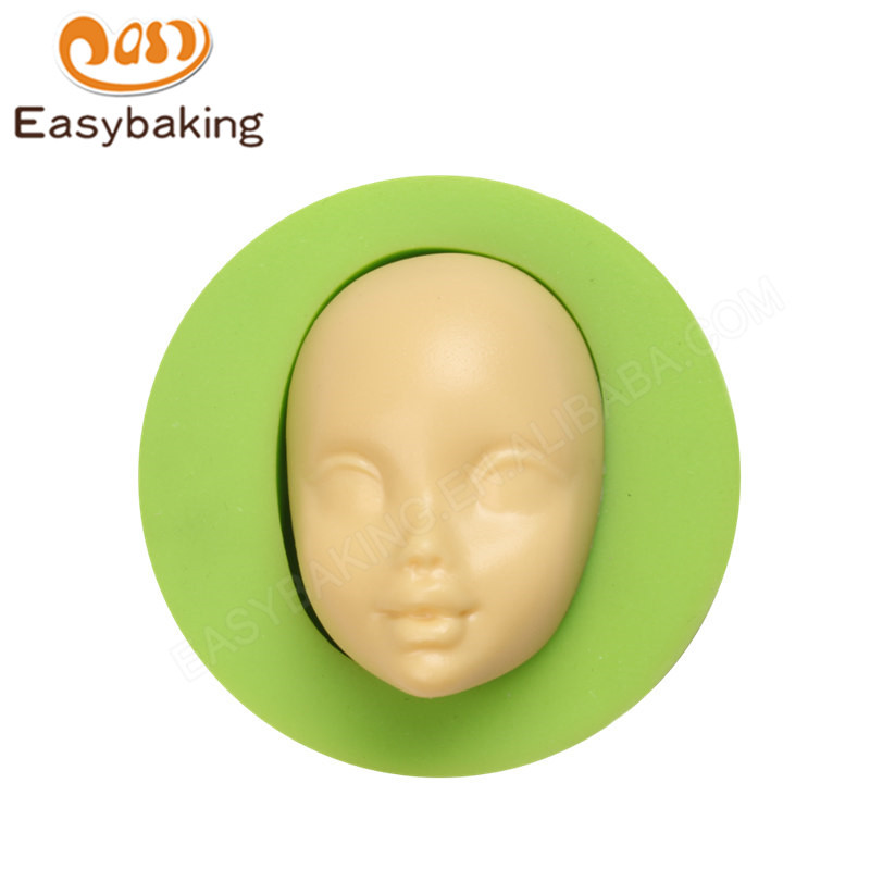 Customizable hot selling baby face silicone molds soap silicone mold Decorating tools