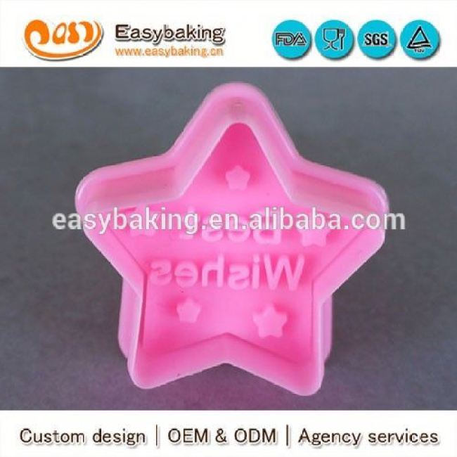 Customized 3D Cookie Stamp Wishes Plastic Cookie Cutters