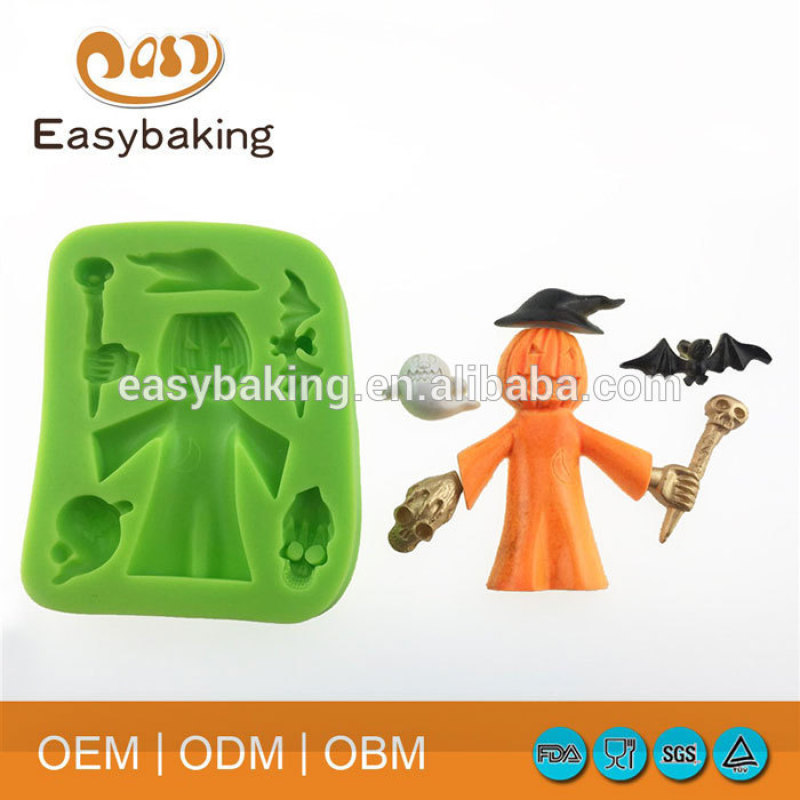 Silicone Polymer Clay Molds With Halloween Festival Pumpkin