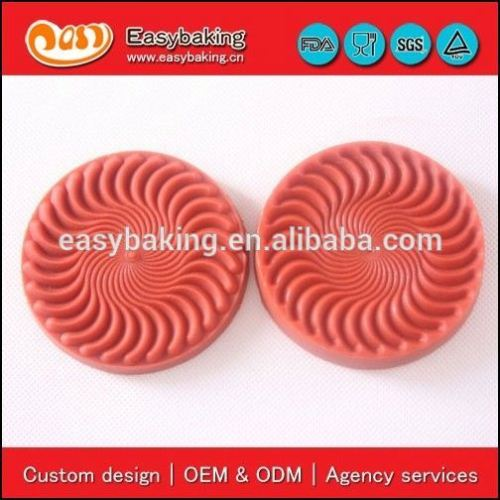 Small Roundness 3D Sugarcraft Veiner Leaf Fondant Silicone Molds For Cake Decorating