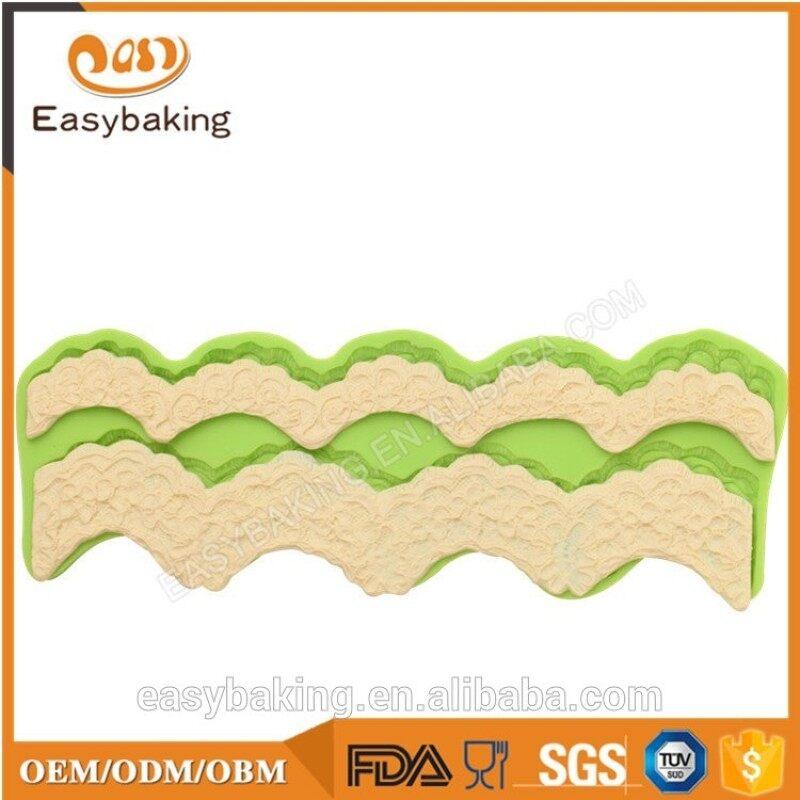Silicone fondant cake border mold for wedding cake decorating