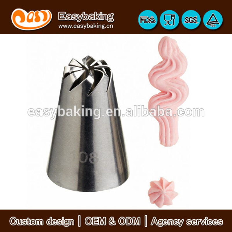 New Piping Pastry Tips Stainless Steel Fondant Cake Piping Nozzles