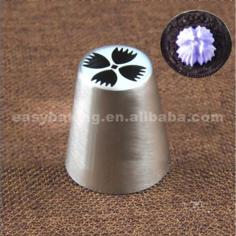 Eco-Friendly Cake Tools Stainless Steel Russian Piping Tips