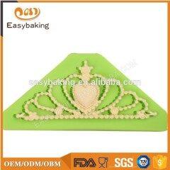 Princess Crown Shape 3D Silicone Fondant Cake Chocolate Mould