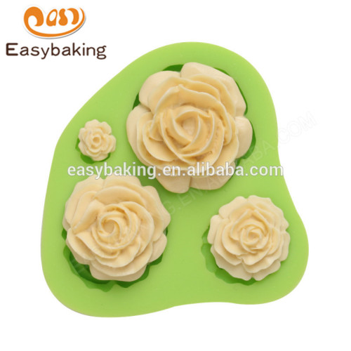 2017 Hot sell good quality 70*67*17mm silicone flower shape mould