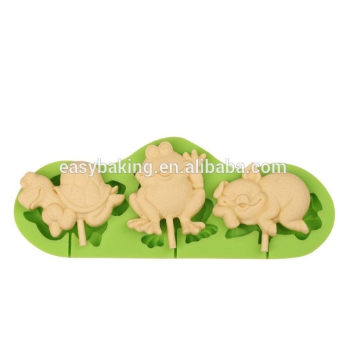 Food grade animal series silicone ice cream molds lollipop mould
