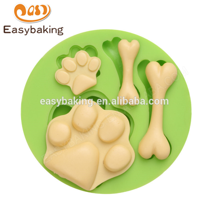 Custom new design high quality dog sootprints and bones silicone molds