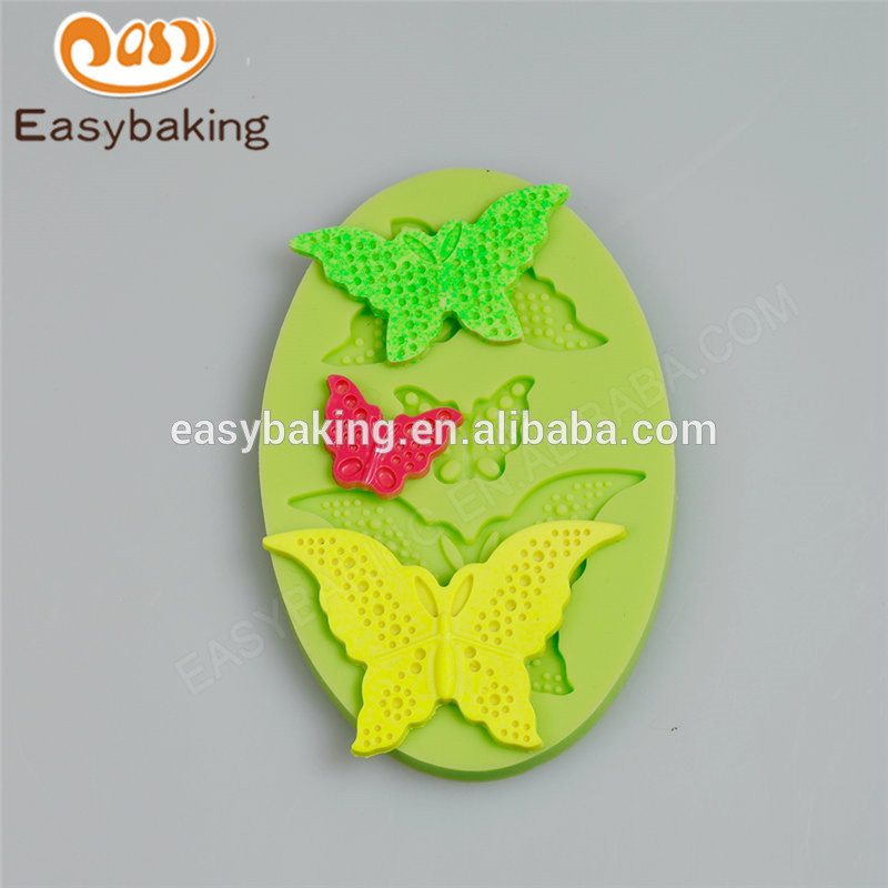 New lovely design 2017 new products butterflies fondant silicone molds