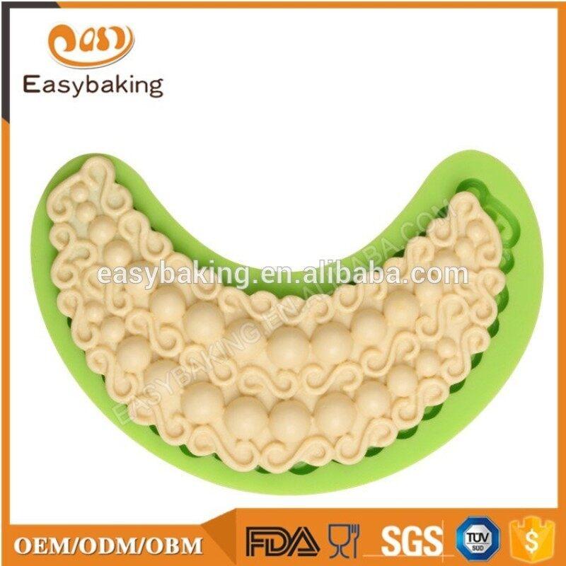 New gemstone necklace jewelry liquid silicone fondant cake mold baking