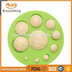 High quality different size pearl shape silicone fondant cake mold for home or party