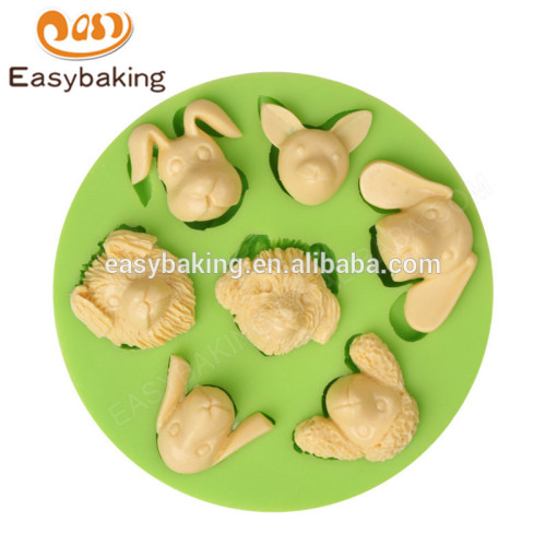 China factory creative multi shapes animal heads series silicone molds