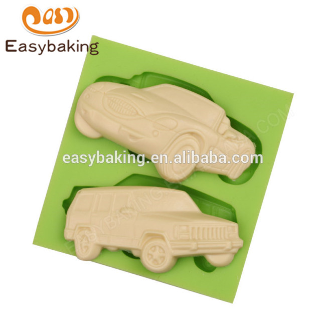 2017 custom made factory price cars shape silicone molds for cake decorating