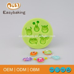 Popular cartoon pastry silicone monster molds