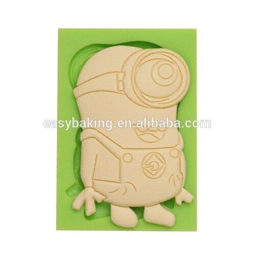 Hot selling product cartoon series Minions shape silicone fondant molds