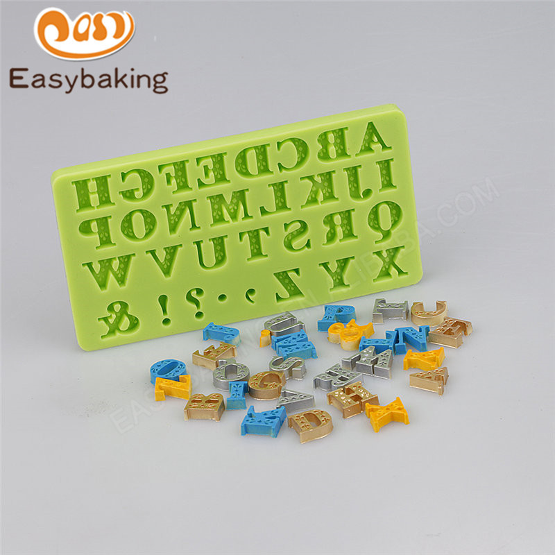 Food grade letter silicone mold fondant cake