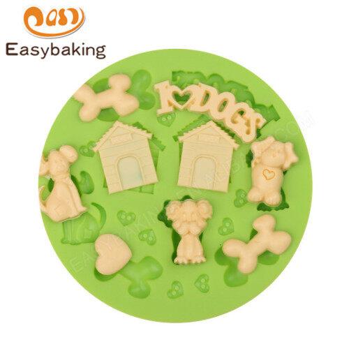 Puppy Dog Bone Pet House Cake Tool Silicone Molds