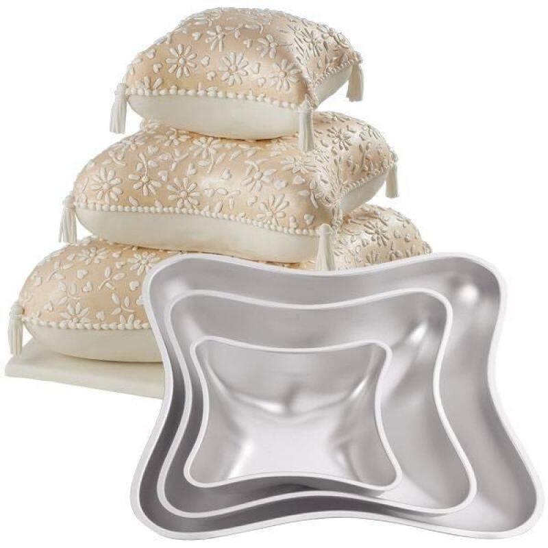 3 Pieces Aluminum Cake Mold Set Pillow Cake Baking Pan