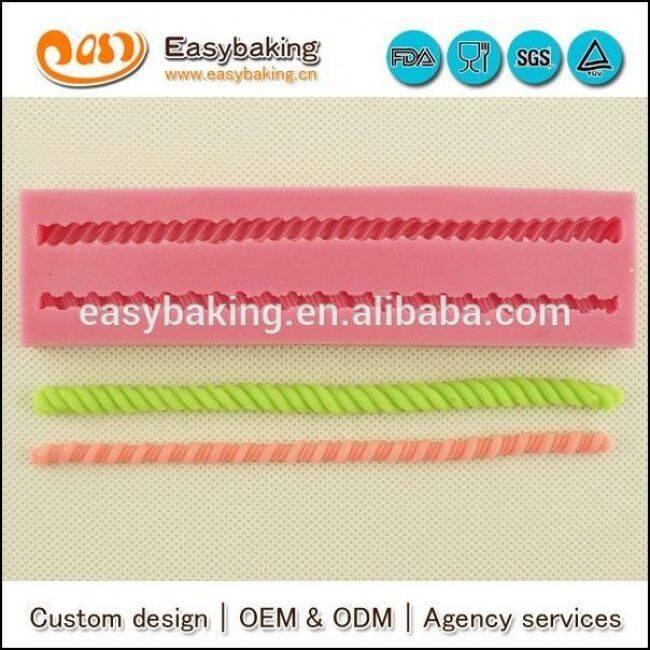Wholesale Custom 3D Rope Silicone Molds For Fondant Cake Decorating
