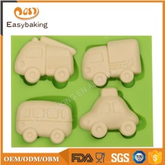 Popular Toys Mini Truck Bus Cars Silicone Cake Mold 3D