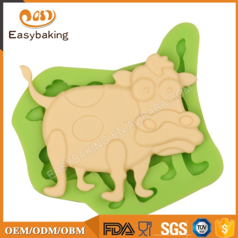 Cheap Wholesale Items Cow Shaped Silicone Cake Decor Molds