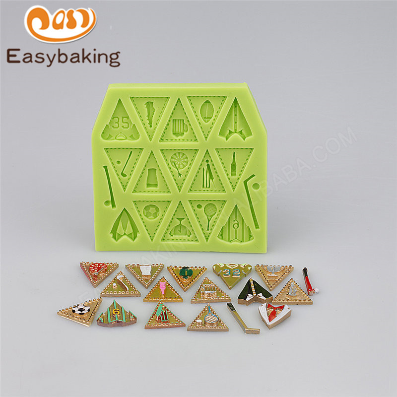 Sport series silicone cake decorating molds fondant tools