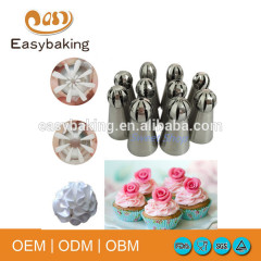 Flower Cupcake Stainless Steel Russian Nozzles Fondant Icing Piping Tips Tubes Cake Decorating Tools