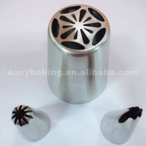 Big size 304 stainless steel flower russian piping tips nozzles
