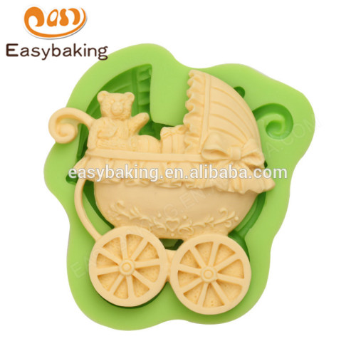 Manufacturer supply customized design baby teddy bear carriage silicone molds