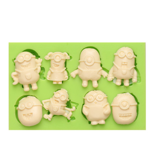 FDA approved food grade minions shaped silicone molds