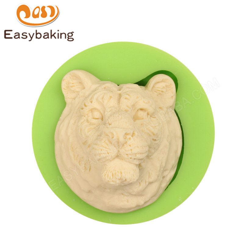 Fondant decoration tiger fondant decoration silicone mould