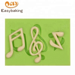 Three Music Notes Silicone Mold for Candy/ Clay/Resin
