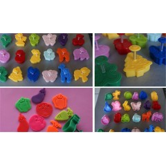 Cake Decorating 3D Plastic Colorful Bee Cookie Cutter Stamp