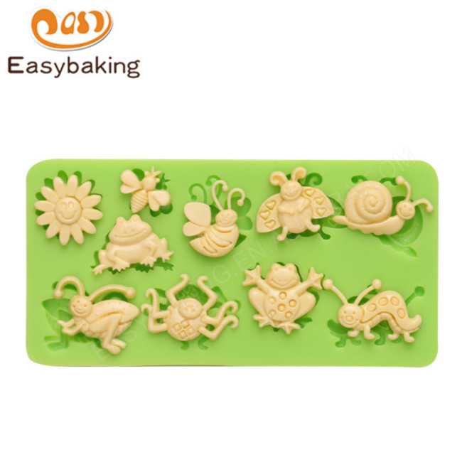 Wholesale silicone animals molds insect series decoration