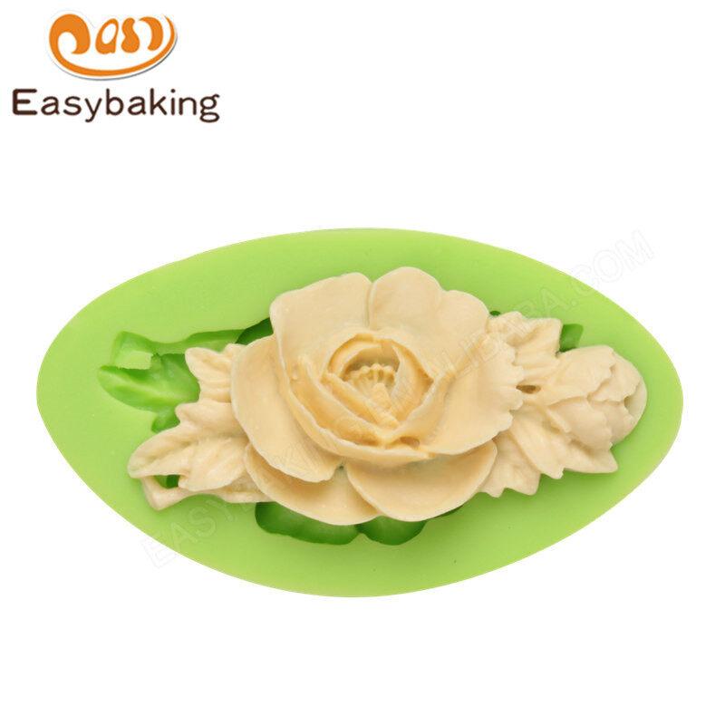 Rose Flower Vine Shape Silicone Cake Mold Decorated by Wedding Cake