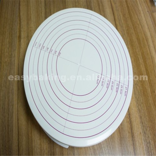 New Arrival 30.3 cm Plastic Cake Turntable With Fixed Switch And Size