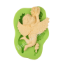 Flying Angel with Flower Shape Silicone Cake Decorating Fondant Mould Tools
