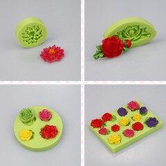 Silicone Cake Decoration Molds New Style Mini Rose Flowers Gumpaste