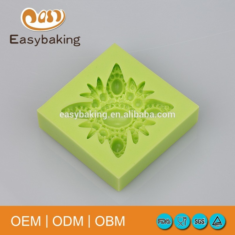 Factory Outlets Pretty Gem Brooch Isomalt Cake Decoration Silicone Candy Mould