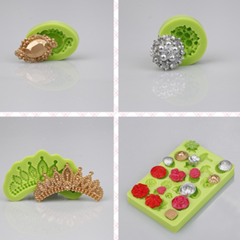 Classic 4 In 1 Daisy Silicone Fondant Mould For Cake Decoration