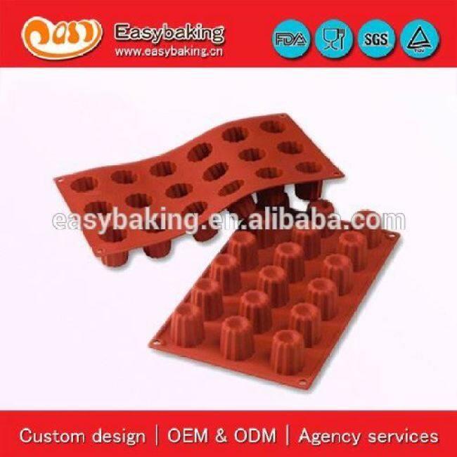 Hard-wearing Quality 18 Cavities Small Bordelais Bakeware Silicone Baking Pan