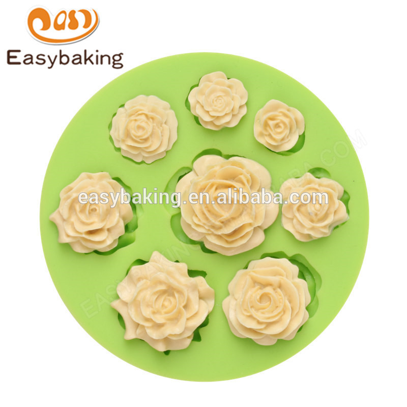 China factory supply unique hand made flower shape silicone mold