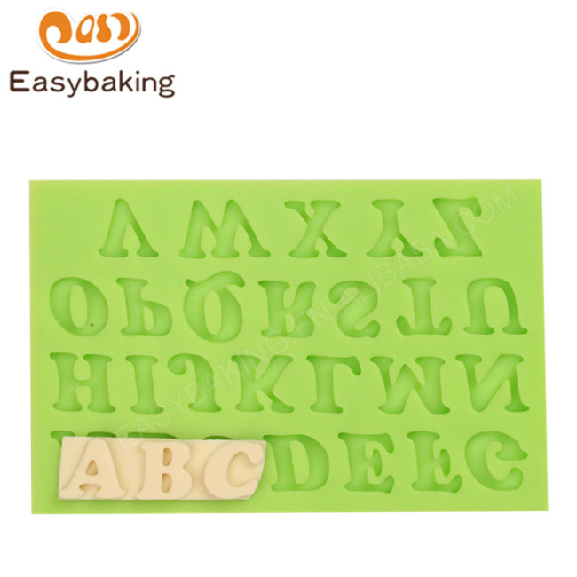 Popular A-Z Uppercase Silicone Mold For Cake Decoration